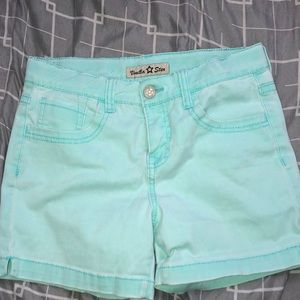 I'm selling these beautiful teal shorts.